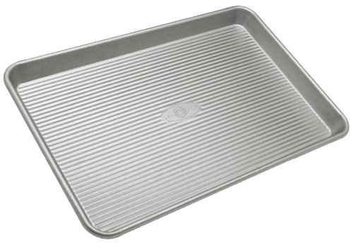 Air- Bake Jelly Roll Pans (USA Pan Bakeware Jelly Roll Pan, Warp Resistant Nonstick Baking Pan, Made in the USA from Aluminized Steel)