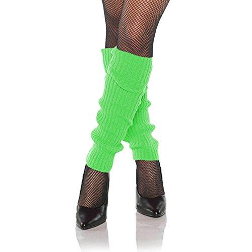 Cyndi Lauper 1980s Costume (Women's Costume Neon Legwarmers (Green))