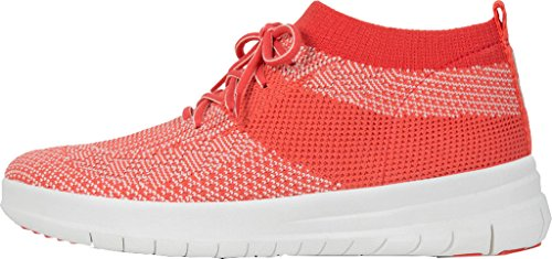 Sneakers Alta Slip-on Fitflop Women Uberknit Alta, Nera, Taglia Unica Rossa