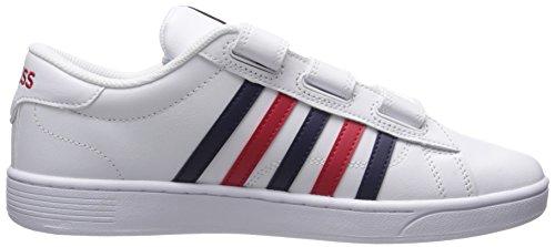 K-Swiss Men's Hoke 3-Strap CMF Fashion Sneaker White/Navy/Red buy cheap visit jUSL8Wacj