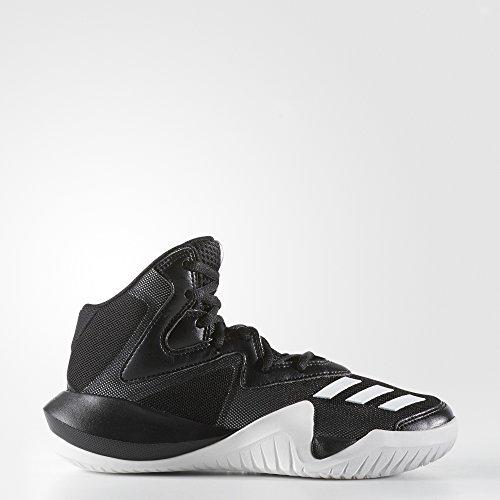 Adidas Unisex-Kinder Crazy Team K Basketballschuhe, Schwarz (Negbas/Ftwbla/Negbas), 36 EU