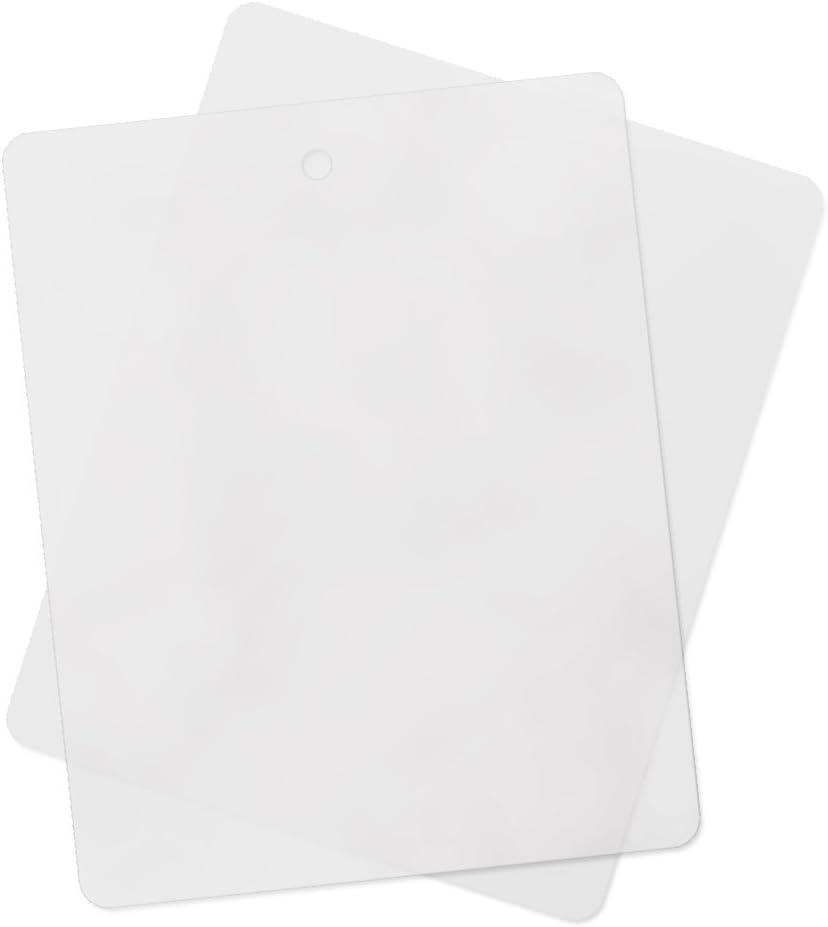 "Multi-Pack Thin Clear Flexible Plastic Cutting Board Mat 12"" x 15"" (20 Pack)"