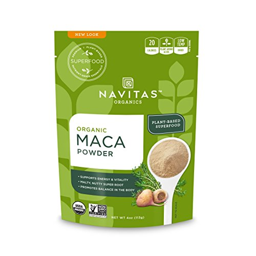 Navitas Organics Maca Powder, 4 oz. Bag — Organic, Non-GMO, Low Temp-Dried, Gluten-Free