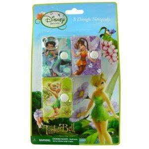 Tinkerbell Dangle - Disney Princess Tinker Bell Dangle Notepads - 3pcs Tinkerbell Keychain Notepads
