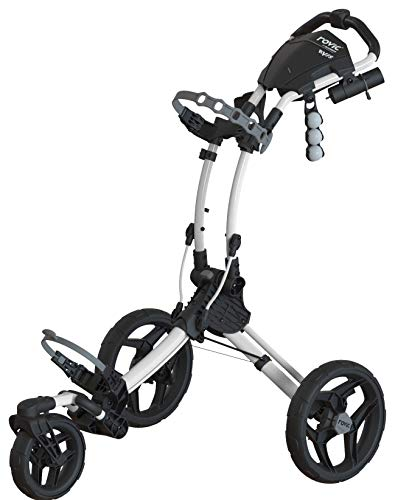 Clicgear Rovic Model RV1S Swivel | 3-Wheel Golf Push Cart (Arctic/White)
