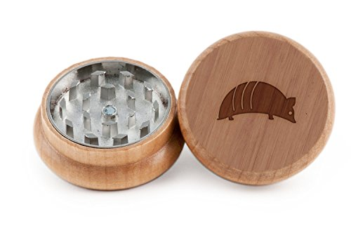 armadillo-herb-and-spice-grinder-2-piece-wood-grinder-with-laser-etched-designs-made-with-oak-2-inch