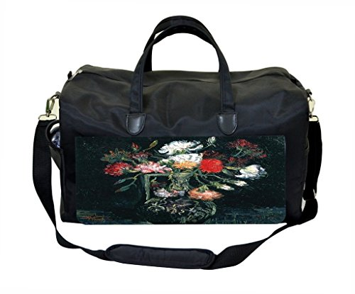 Van Gogh-Vase of Red and White Carnations Gym Bag