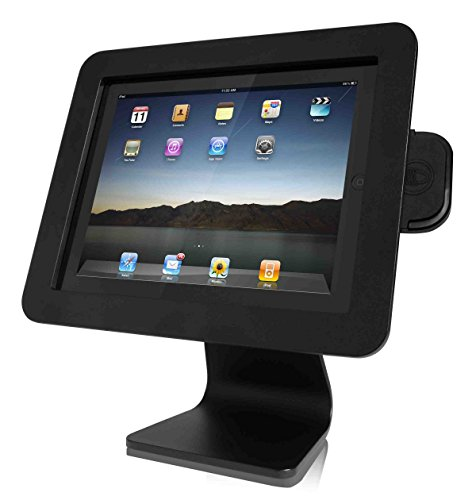 Maclocks AIO-B All-in-One 360 Rotating iPad Security Enclosure Kiosk Stand (Black) by Compulocks