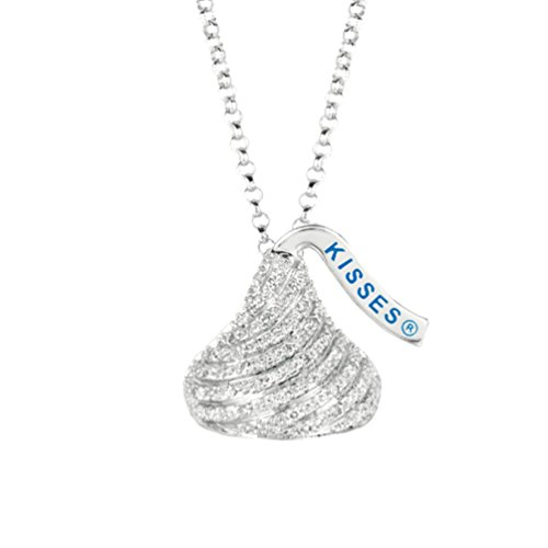 Hershey Jewelry - The Men's Jewelry Store (for HER) Hershey's Kisses Diamond .12 Cttw Flat Back Sterling Silver Necklace, 16 to 18
