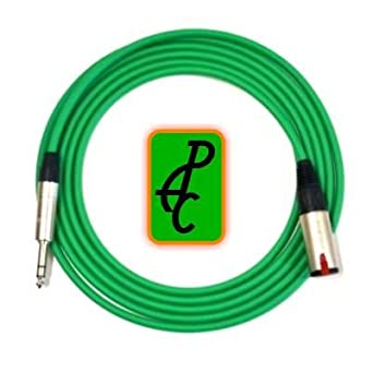 Amazon com: 15 ft Canare Stereo Headphone Cable Green 1/4