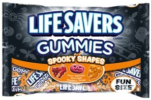 Lifesavers Gummies Spooky Shapes - 2x 8oz Bags Fun Size Individually Wrapped