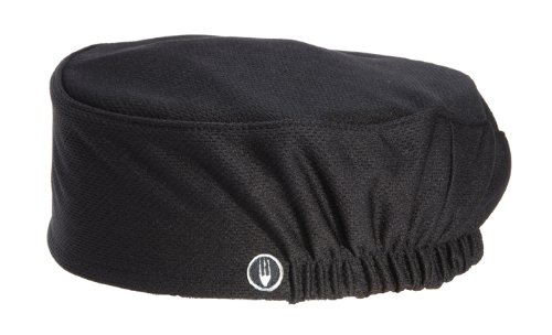 Chef Works Unisex Total Vent Chef Beanie, Black One Size -