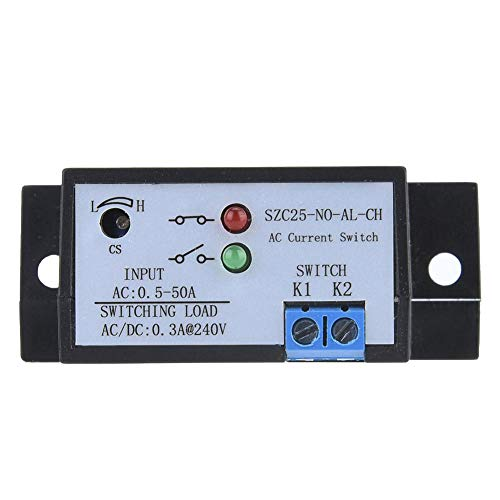 Liukouu SZC25-NO-AL-CH Self Supply Adjustable Normally Open AC Current Sensing Switch AC 0.5-50A