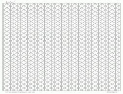 Perfect Unpunched Ruled A3 Isometric Grid Exercise Paper   250 Sheets (297 X 420mm)