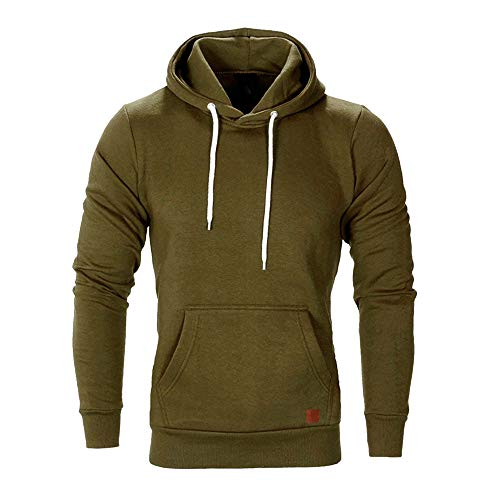 Men's Fashion Pockets Pure Casual Autumn Sweatshirt Hoodies Top Blouse Tracksuits ()