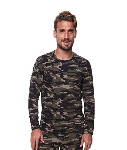 Men's Thermal Top Lightweight Ultra Soft Fleece,Base Layer, Very Warm, Excellent Wicking (XXLarge, Camouflage)
