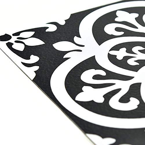 FloorPops FP2475 Gothic Peel & Stick Tiles Floor Decal Black (Twо Pаck) by FloorPops (Image #4)