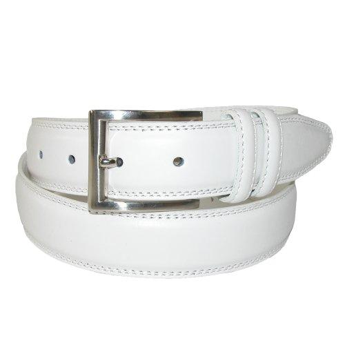 Aquarius Leather Belt (Aquarius Men's Big & Tall Leather Padded Belt with Satin Buckle, 48,)