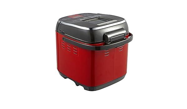 GCCI Máquina de Pan Multifuncional Máquina de Pan Casero Yogur Y Cara Automática Inteligente, rojo: Amazon.es