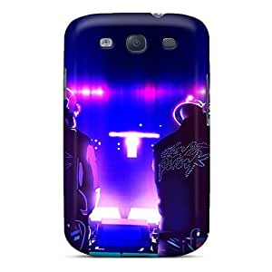 Galaxy S3 Case Cover - Slim Fit Tpu Protector Shock Absorbent Case (daft Punk)
