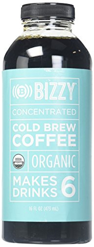 Bizzy Cold Brew Coffee Concentrate USDA Organic, 16 fl oz (pack of 12)