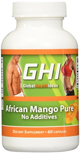 GHI African Mango Pure Weight Loss 600mg Each - 60 Capsules for Safe Natural Weight Loss Diet Extract Supplement with No Additives - Fat Burner with No Fillers No Binders 1200mg Per Serving