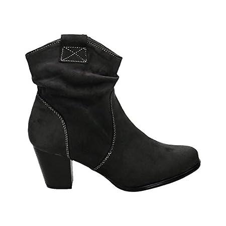 King Of Shoes Damen Stiefeletten Cowboy Western Stiefel Boots Schlupfstiefel Blockabsatz Schuhe 65