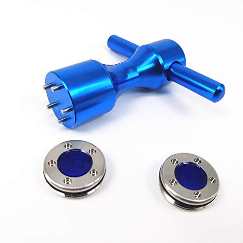 RoyMade 1Set Putter Weight Wrench Aluminium Alloy Golf Screw Wrench 5g/10g/15g/20g/25g/30g/35g/40g Putter Weight for Scotty Cameron Golf Putter Spanner (Blue 10g,A Set) ()
