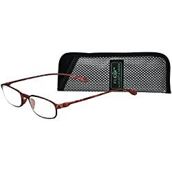 Flexi 2 5020 Comfortable Lightweight Reading Glasses, Flexible Soft Touch Material and Extremely Durable Glasses, Unisex Glasses for Smart Comfort Cool Look, Includes Protective Case