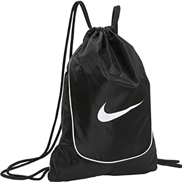 Amazon.com : Nike Brasilia 4 Gym Sack (Black/ Black/ White) : Gym ...