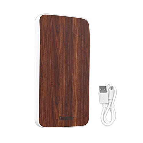 CNluca para Powerbank Externo Ultra Fino de Madera del Grano 4000mAh para el Cargador de batería portátil del teléfono...