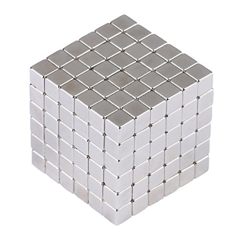 Magnetic Cube EJOYFL 216 Pcs 5mm Magnetic Square Magnetic Block DIY PuzzleEducational Toys for kids Intelligence and Creativity Development by EJOYFL (Image #1)