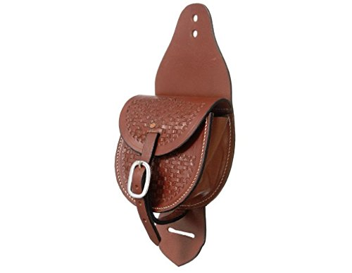 Saddlebags Horse Leather (Tough 1 Leather Small Concho Saddlebag)