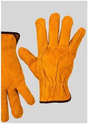 手袋 日常 実用 男女兼用の作業用手袋の冷却の通気性の反火傷防止用手袋、保護手袋、12ペア (Color : Orange, Size : L)