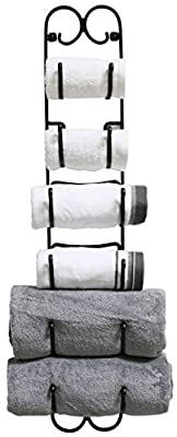 DecoBros Wall Mount Multi-Purpose Towel/Wine/Hat Rack,Bronze