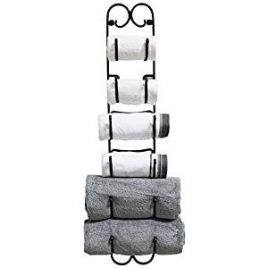 DecoBros Wall Mount Multi-Purpose Towel/Wine/Hat Rack, Bronze