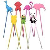 (set of 7)Lovely animals serise Training Chopsticks Utensil Set, For Kids and Adults,The elephant, owl, swan, frog, flamingo, giraffe, monkey,Training Chop Sticks, Chopstick Set.