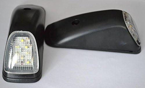 4 Piezas 24//7Auto 4L0095W Luces Laterales de Marcador de Esquina Trasera de Techo 24/V para Remolque Cami/ón Blanco
