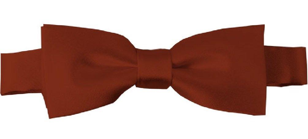Golden Yellow NYfashion101 Boys Solid Color Adjustable Pre-Tied Bow Ties