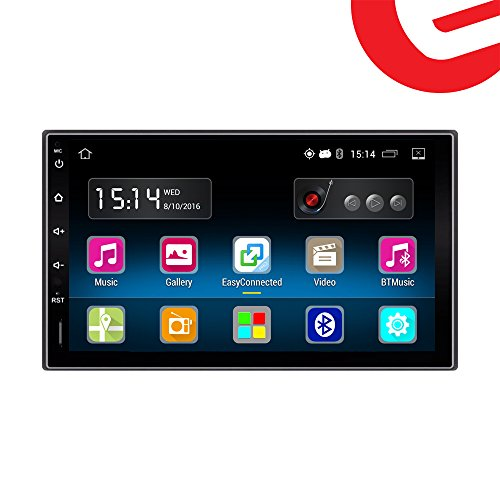 Ezonetronics Android 5.1 FM/AM Car Radio Stereo 2Din 7 inch Capacitive Touch Screen GPS Navigation Bluetooth USB SD Mirro Link Player 1G DDR3 + 16G NAND Memory Flash (Capacitive Touch Screen Gps)