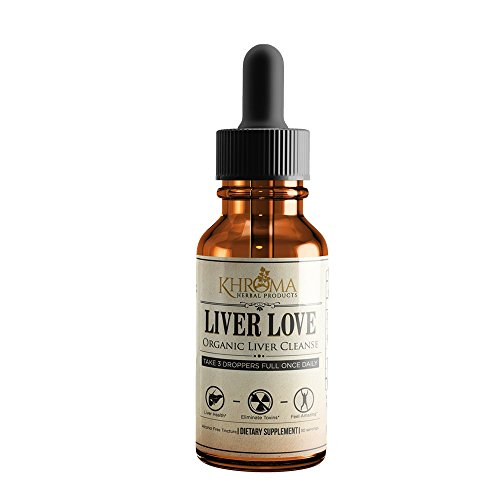 Organic Liver - Liver Love - Organic Liver Cleanse - 2 oz Liquid Dietary Supplement - Alcohol Free
