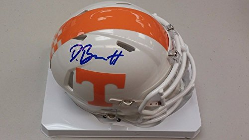 Derek Barnett Tennessee Volunteers Signed Replica Mini Helmet - JSA Authentic Autograph