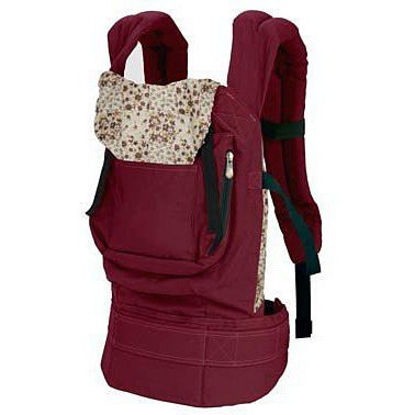 SODIAL(R) Cotton Baby Carrier Infant Comfort Backpack Buckle Sling Wrap Fashion Full Pad Adjustable Red