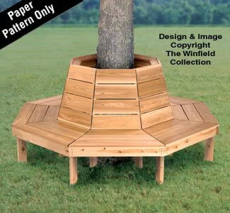 Amazon Com Tree Bench Woodworking Plan Arts Crafts Sewing