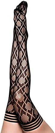 Kix`ies Stockings For Women   Thigh High Stockings with No-Slip Grip Stay Ups Thigh Bands   Womens Thigh High