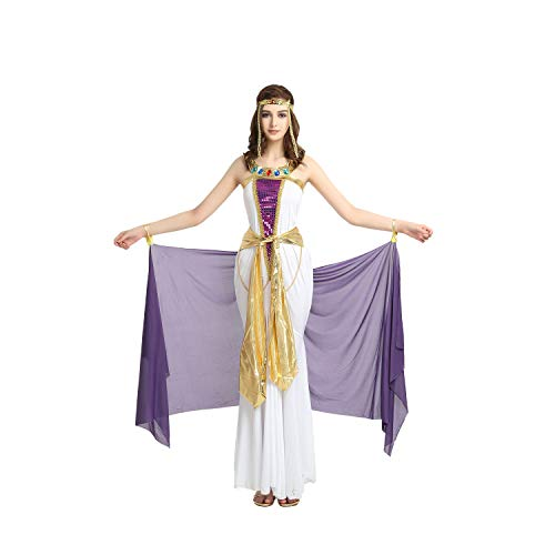 Women's Elegant Purple Kelly Cleopatra Cleo Halloween Costumes Party Cosplay Costumes with Detachable Yarn]()