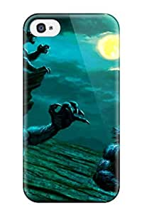 New NzfHatD4532JpxDO Werewolf Attack Skin Case Cover Shatterproof Case For Iphone 4/4s