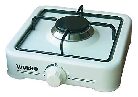 Wurko 027030 Cocina gas 1 fuego, Blanco esmaltado: Amazon.es ...