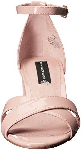 Steve Madden Steven by Women's Voomme Dress Sandal, Black, US Nude Patent