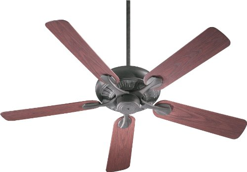 - Quorum International 191525-44 Pinnacle Energy Star Patio Ceiling Fan with Rosewood ABS Blades, 52-Inch, Toasted Sienna Finish